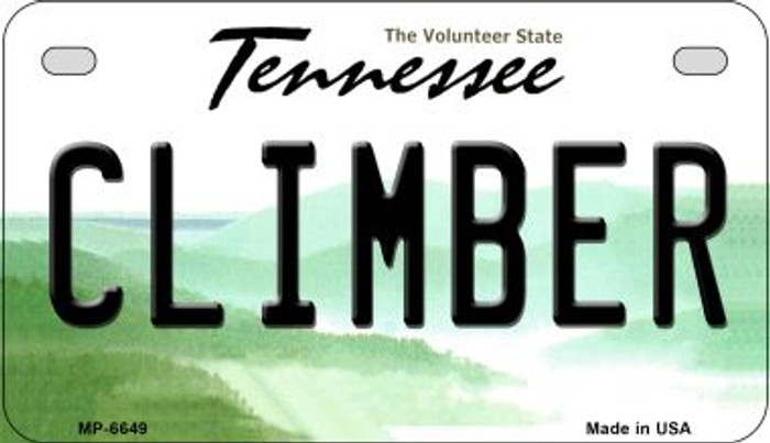 Climber Tennessee Novelty Metal Motorcycle Plate MP-6649