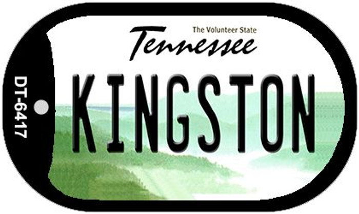 Kingston Tennessee Novelty Metal Dog Tag Necklace DT-6417