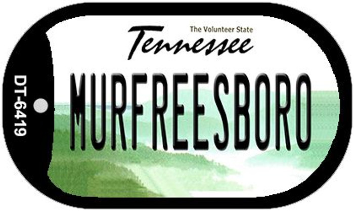 Murfreesboro Tennessee Novelty Metal Dog Tag Necklace DT-6419