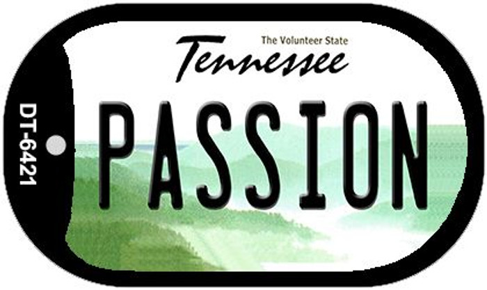 Passion Tennessee Novelty Metal Dog Tag Necklace DT-6421