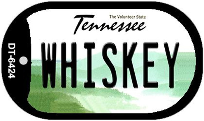 Whiskey Tennessee Novelty Metal Dog Tag Necklace DT-6424