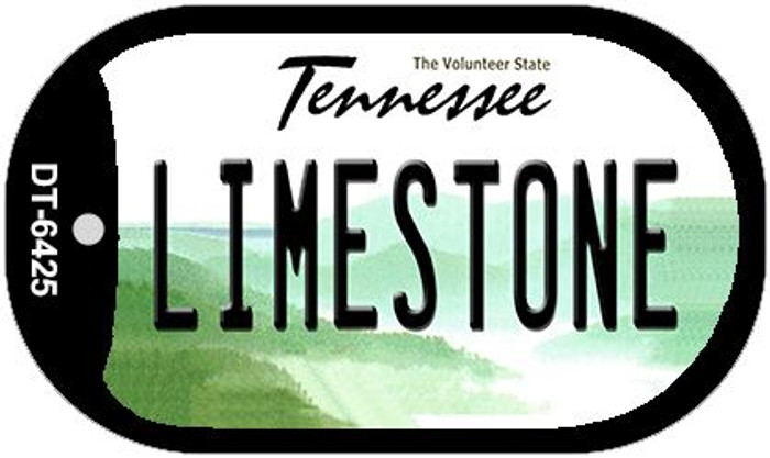 Limestone Tennessee Novelty Metal Dog Tag Necklace DT-6425