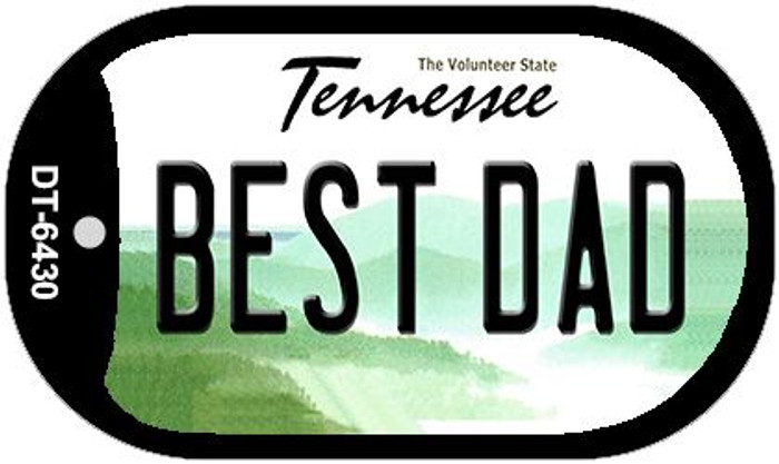 Best Dad Tennessee Novelty Metal Dog Tag Necklace DT-6430