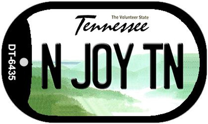 N Joy TN Tennessee Novelty Metal Dog Tag Necklace DT-6435