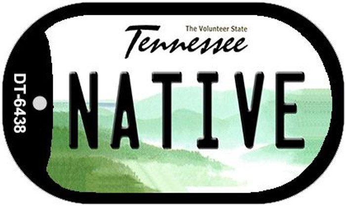 Native Tennessee Novelty Metal Dog Tag Necklace DT-6438