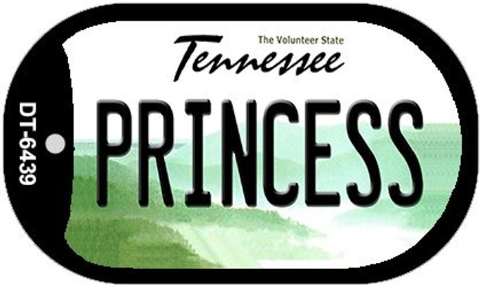 Princess Tennessee Novelty Metal Dog Tag Necklace DT-6439