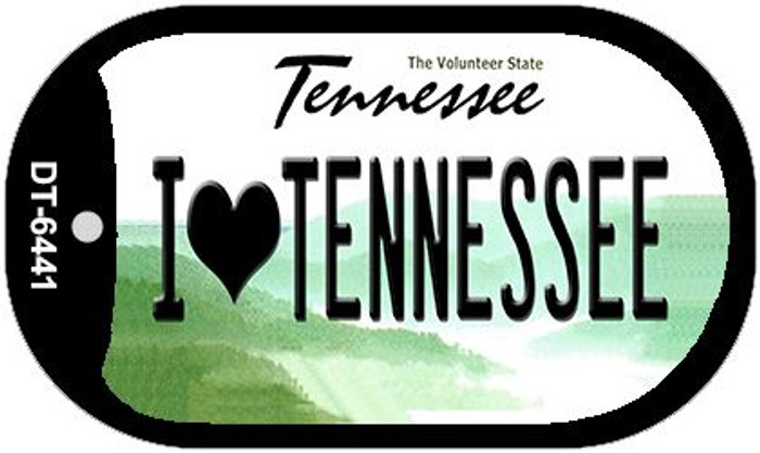I Love Tennessee Novelty Metal Dog Tag Necklace DT-6441