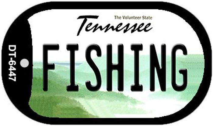 Fishing Tennessee Novelty Metal Dog Tag Necklace DT-6447