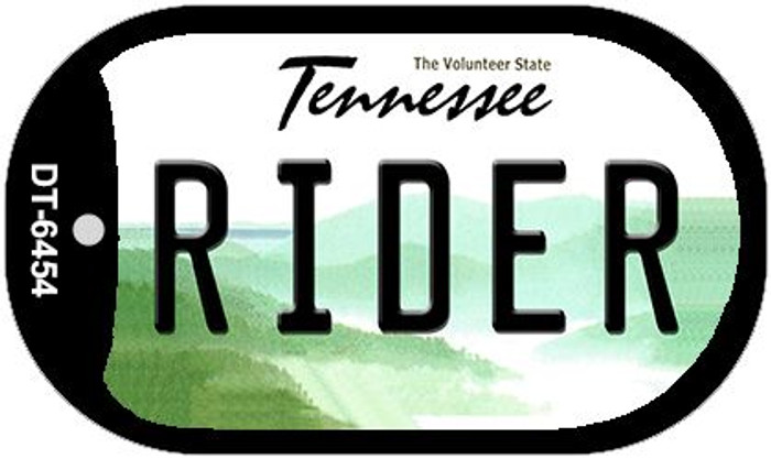 Rider Tennessee Novelty Metal Dog Tag Necklace DT-6454