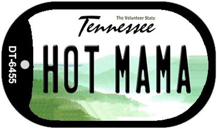 Hot Mama Tennessee Novelty Metal Dog Tag Necklace DT-6455