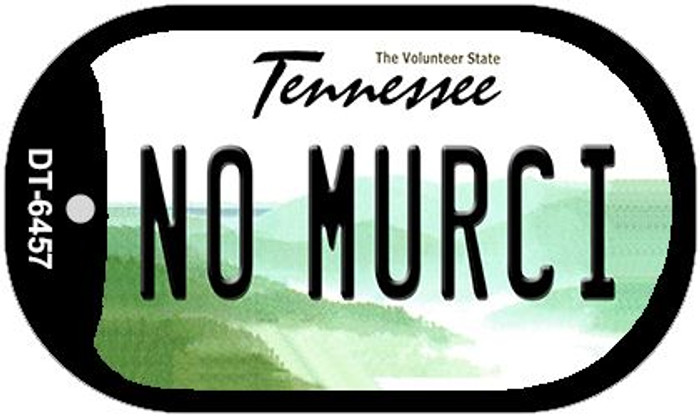 No Murci Tennessee Novelty Metal Dog Tag Necklace DT-6457