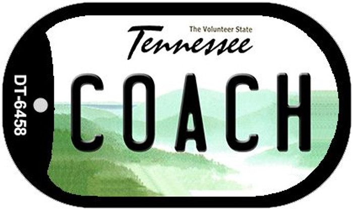 Coach Tennessee Novelty Metal Dog Tag Necklace DT-6458