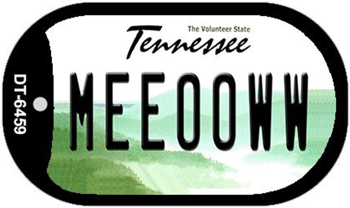 Meeooww Tennessee Novelty Metal Dog Tag Necklace DT-6459