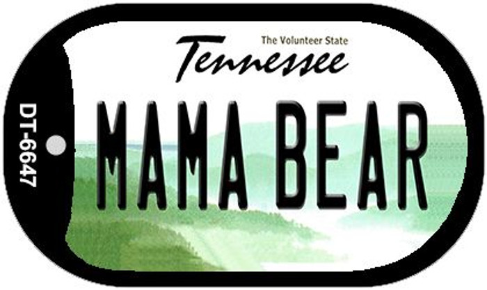 Mama Bear Tennessee Novelty Metal Dog Tag Necklace DT-6647