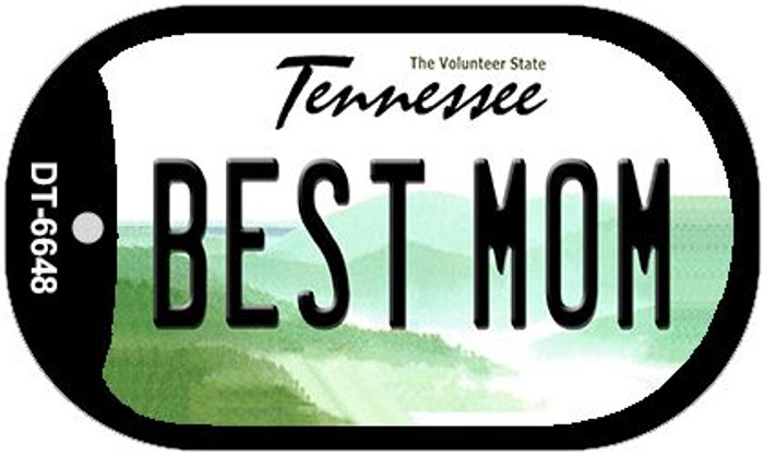 Best Mom Tennessee Novelty Metal Dog Tag Necklace DT-6648