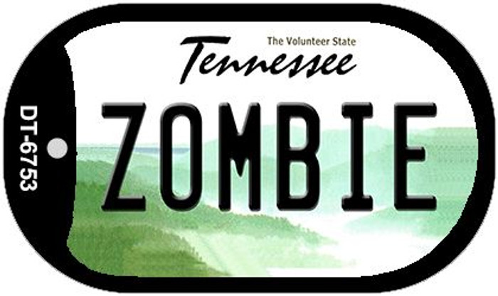 Zombie Tennessee Novelty Metal Dog Tag Necklace DT-6753
