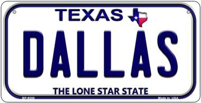 Dallas Texas Novelty Metal Bicycle Plate BP-9355