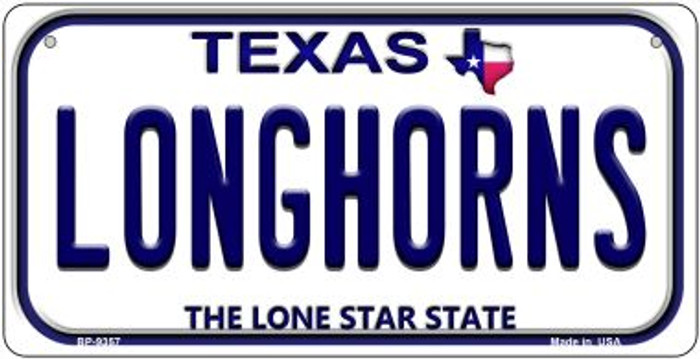 Longhorns Texas Novelty Metal Bicycle Plate BP-9357