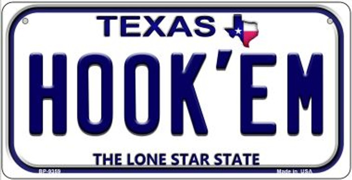 Hook'em Texas Novelty Metal Bicycle Plate BP-9359