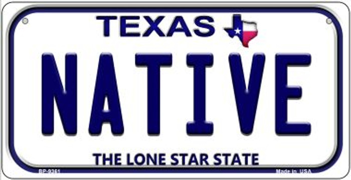 Native Texas Novelty Metal Bicycle Plate BP-9361