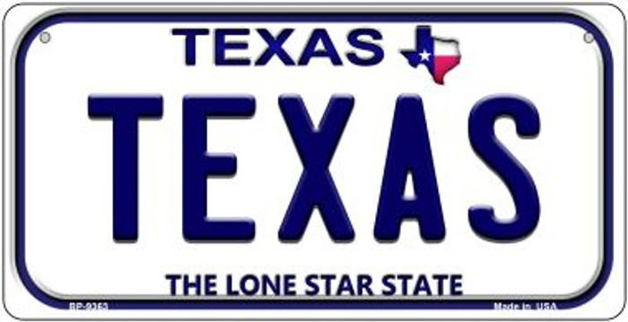 Texas Novelty Metal Bicycle Plate BP-9363
