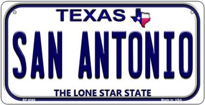 San Antonio Texas Novelty Metal Bicycle Plate BP-9365