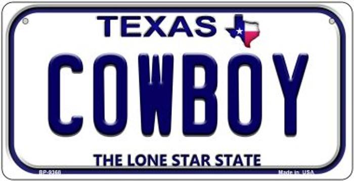 Cowboy Texas Novelty Metal Bicycle Plate BP-9368
