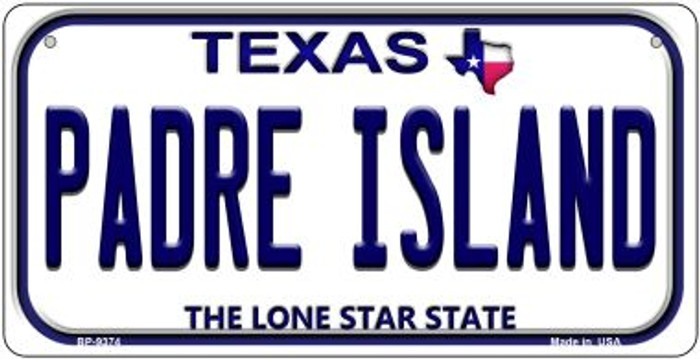 Padre Island Texas Novelty Metal Bicycle Plate BP-9374