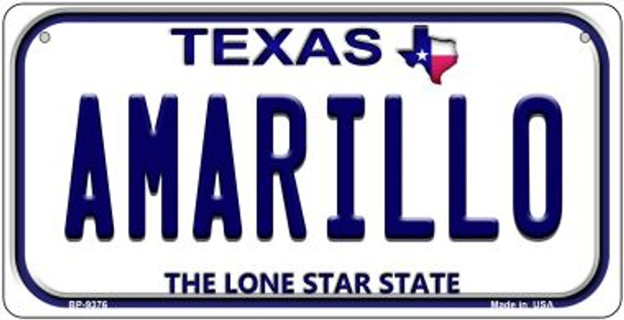 Amarillo Texas Novelty Metal Bicycle Plate BP-9376