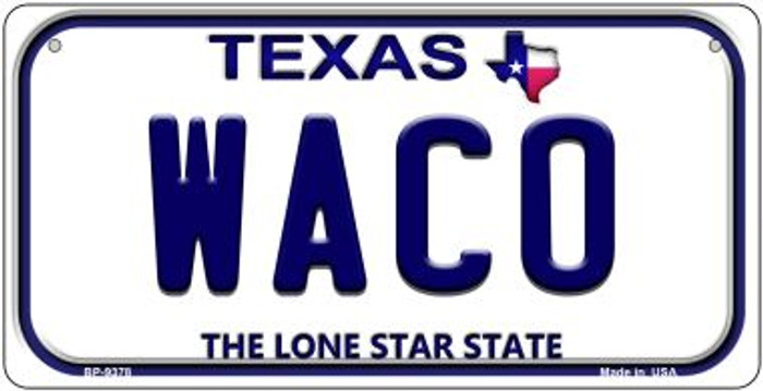 Waco Texas Novelty Metal Bicycle Plate BP-9378