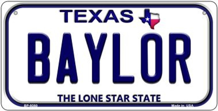 Baylor Texas Novelty Metal Bicycle Plate BP-9380