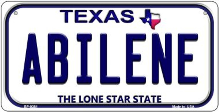 Abilene Texas Novelty Metal Bicycle Plate BP-9381
