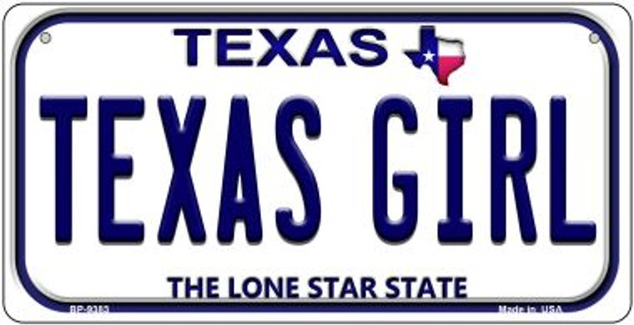Texas Girl Novelty Metal Bicycle Plate BP-9383