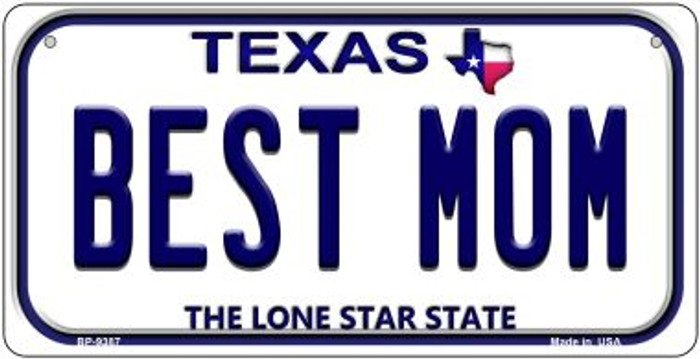 Best Mom Texas Novelty Metal Bicycle Plate BP-9387