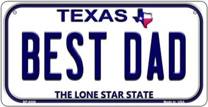 Best Dad Texas Novelty Metal Bicycle Plate BP-9388