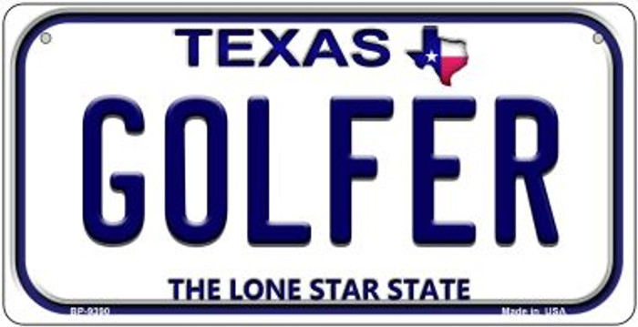 Golfer Texas Novelty Metal Bicycle Plate BP-9390