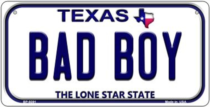 Bad Boy Texas Novelty Metal Bicycle Plate BP-9391