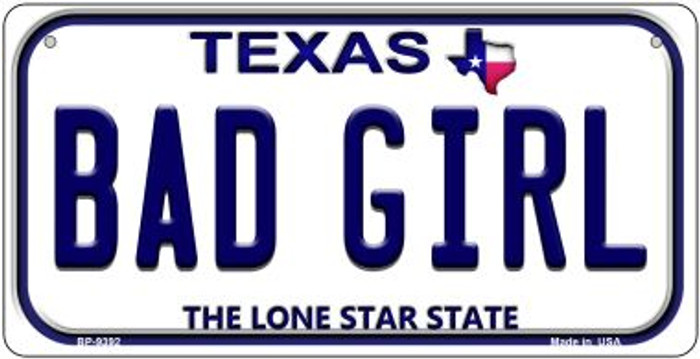 Bad Girl Texas Novelty Metal Bicycle Plate BP-9392