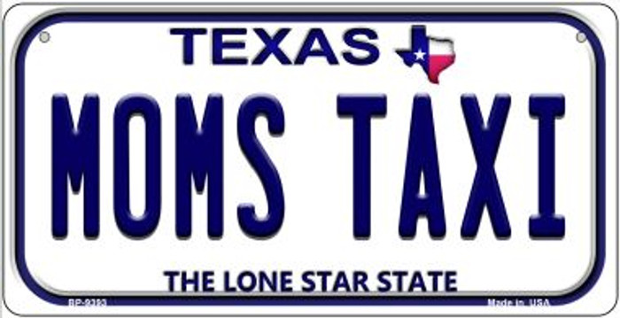 Moms Taxi Texas Novelty Metal Bicycle Plate BP-9393