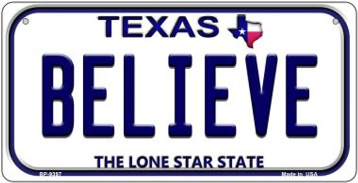 Believe Texas Novelty Metal Bicycle Plate BP-9397