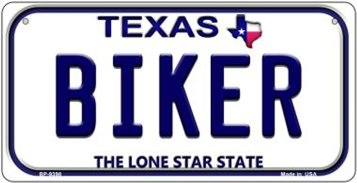 Biker Texas Novelty Metal Bicycle Plate BP-9398