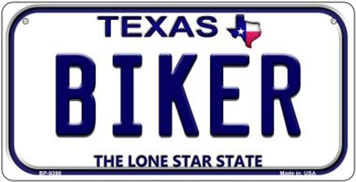 Biker Texas Novelty Metal Bicycle Plate BP-9398