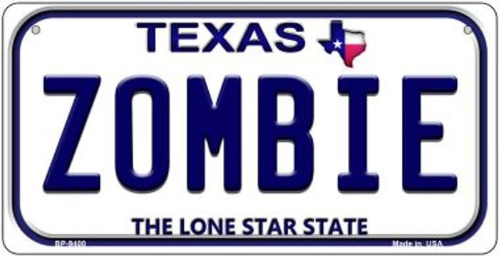Zombie Texas Novelty Metal Bicycle Plate BP-9400
