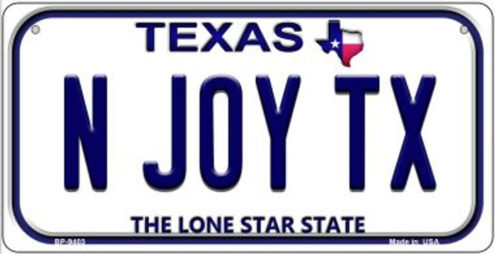 N Joy TX Texas Novelty Metal Bicycle Plate BP-9403