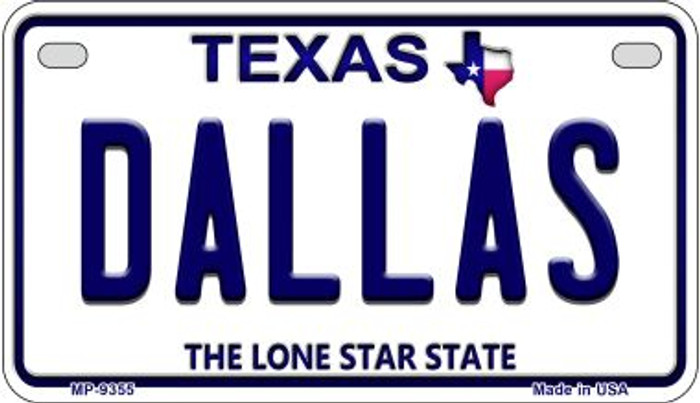 Dallas Texas Novelty Metal Motorcycle Plate MP-9355