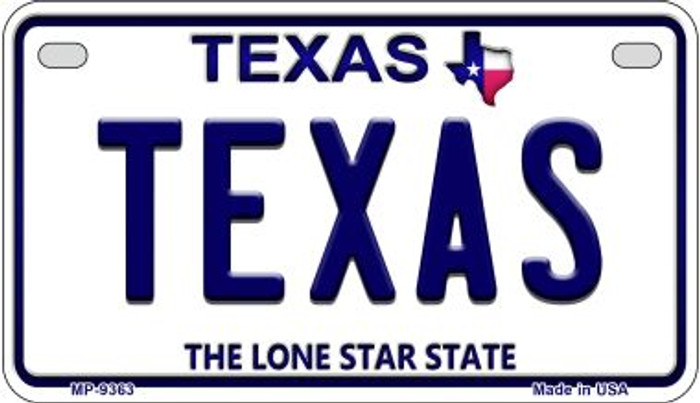 Texas Novelty Metal Motorcycle Plate MP-9363