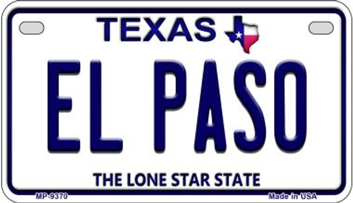 El Paso Texas Novelty Metal Motorcycle Plate MP-9370