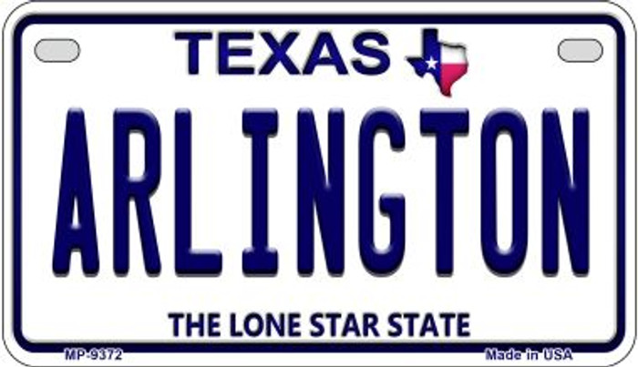 Arlington Texas Novelty Metal Motorcycle Plate MP-9372