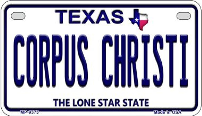 Corpus Christi Texas Novelty Metal Motorcycle Plate MP-9373