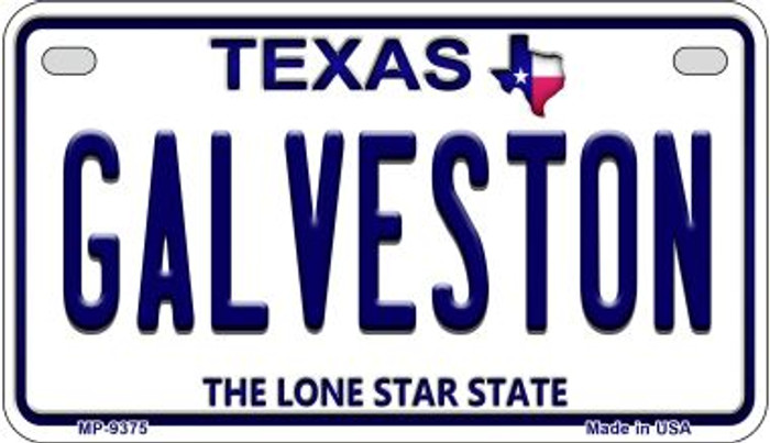 Galveston Texas Novelty Metal Motorcycle Plate MP-9375